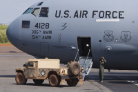 USA - Air Force Boeing C-17A Globemaster III Bangui M Poko - Bangui - (FEFF / BGF), Central African Rep.  cn:F-135/P-128 ������ 23, 2014  Sergiy Reznichenko