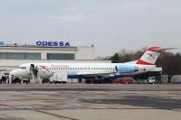 Austrian Arrows (Tyrolean Airways) Fokker 100 Odessa-Central - Odessa - (UKOO / ODS), Ukraine OE-LVL cn:11404 ���� 30, 2015  Sergey Smolentsev