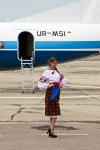 Motor Sich Airlines Girls - Aviation theme Chernobayevka - Kherson - (UKOH / KHE), Ukraine  cn: Июль 10, 2015  Natalia Demyanchuk
