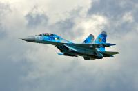 Ukraine - Air Force Sukhoi Su-27UB Off-Airport, Ukraine 73 BLUE cn:96310425068  2017  Vladimir Vorobyov