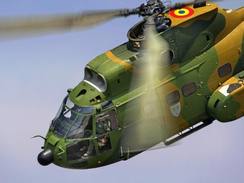 Romania - Air Force Aerospatiale (IAR) IAR-330M Puma Baneasa - Bucharest - (LRBS / BBU), Romania 77 cn:128 Июль 22, 2017  Oleg V. Belyakov