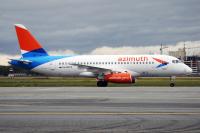Azimuth Sukhoi SSJ-100-95B-LR Superjet 100 (RRJ-95B) Tsentralny - Omsk - (UNOO / OMS), Russia RA-89079 cn:95128 Сентябрь 21, 2017  Maxim Golbraykht