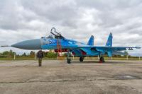 Ukraine - Air Force Sukhoi Su-27 Ozernoye - Zhitomir - (UKKO), Ukraine 56 BLUE cn:36911031310 Октябрь 14, 2017  Vladimir Vorobyov