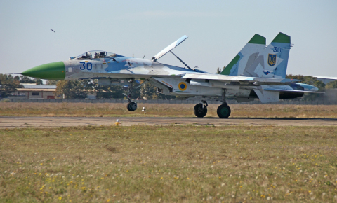 Ukraine - Air Force Sukhoi Su-27 Odessa-Central - Odessa - (UKOO / ODS), Ukraine 30 BLUE cn:36911013918 Сентябрь 2017  petr padalko