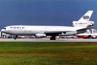 World Airways McDonnell Douglas DC-10-10(CF) Miami Intl - Miami - (KMIA / MIA), USA N116WA cn:47906 Декабрь 14, 1994  Torsten Maiwald