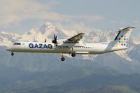 Qazaq Air Bombardier Dash 8-Q402 Almaty - (UAAA / ALA), Kazakhstan P4-FLY cn:4595 Июнь 21, 2019  Bakayenko Andrey - Kazakhstan Spotting Club