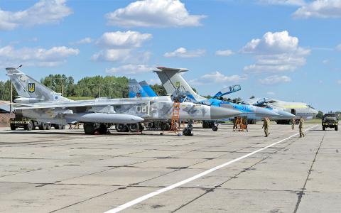 Ukraine - Air Force Sukhoi Su-24M Ivano-Frankovsk - (UKLI / IFO), Ukraine 08 WHITE cn: Август 19, 2019  Vladimir Vorobyov