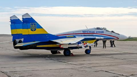 Ukraine - Air Force Mikoyan-Gurevich MiG-29 (9-13) Dnepropetrovsk - Dnipro - (UKDD / DNK), Ukraine 55 BLUE cn: Март 30, 2014  Pavel Kapustin