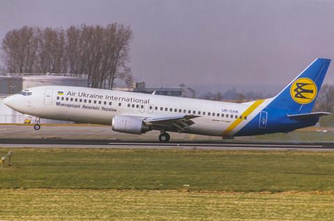Air Ukraine Boeing 737-4Y0 Brussels Natl - Brussels - (EBBR / BRU), Belgium UR-GAB cn:26071 Март 20, 1993  Torsten Maiwald