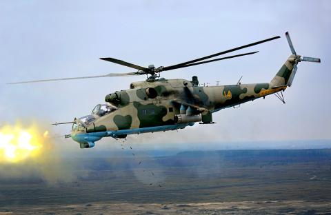 Ukraine - Army Mil Mi-24P Off-Airport, Ukraine 14 YELLOW cn: Ноябрь 23, 2012  Dmytryi Muravskyi