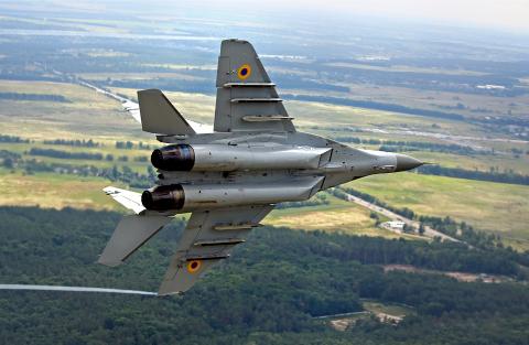 Ukraine - Air Force Mikoyan-Gurevich MiG-29MU1 Off-Airport, Ukraine 04 WHITE cn:2960729036 Июль 1, 2013  Dmytryi Muravskyi