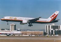 Trans World Airlines (TWA) Boeing 757-231 Los Angeles Intl - Los Angeles - (KLAX / LAX), USA N714P cn:28482 Декабрь 11, 1999  Torsten Maiwald